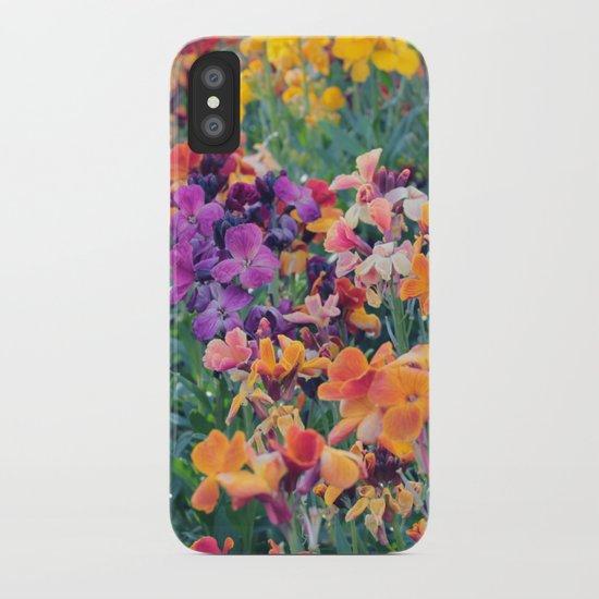 COLOUR POP // SPRING FLOWERS  iPhone Case