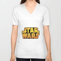 starwars V-neck T-shirts featuring StarWars by Camorrista