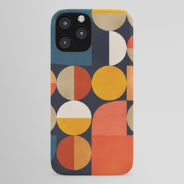 mid century geometric abstract iPhone Case