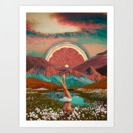 Grapefruit valley Art Print