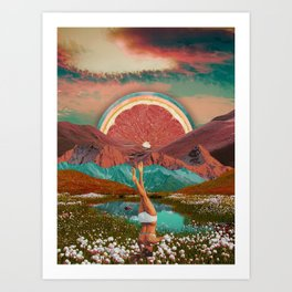Grapefruit valley Art Print