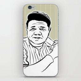 Face Babe Ruth iPhone Skin
