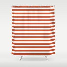 Vintage Red Stripes Shower Curtain