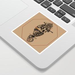 Butterfly Heart Sticker