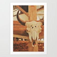 Cowboy Ranch Art Print