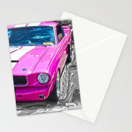 Pink Mustang  Stationery Cards