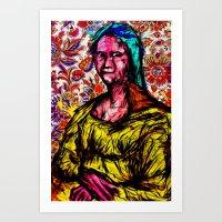mona lisa Art Prints featuring Mona Lisa by Alec Goss
