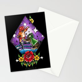 Wrestling Kitties Stationery Cards