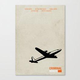 CRIMINAL MINDS - MINIMAL Canvas Print