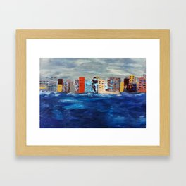 City Near The Sea Framed Art Print