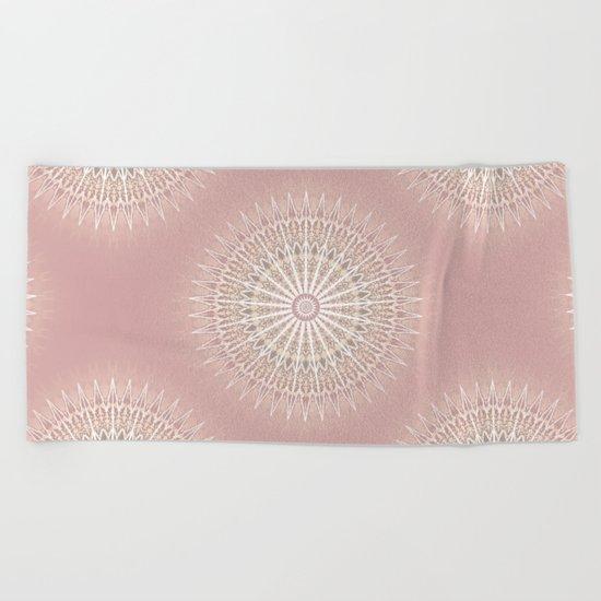Rose Mandala Beach Towel