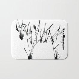 zebra ink splatter Bath Mat