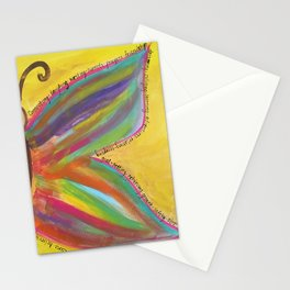 what gives you wings? Stationery Cards