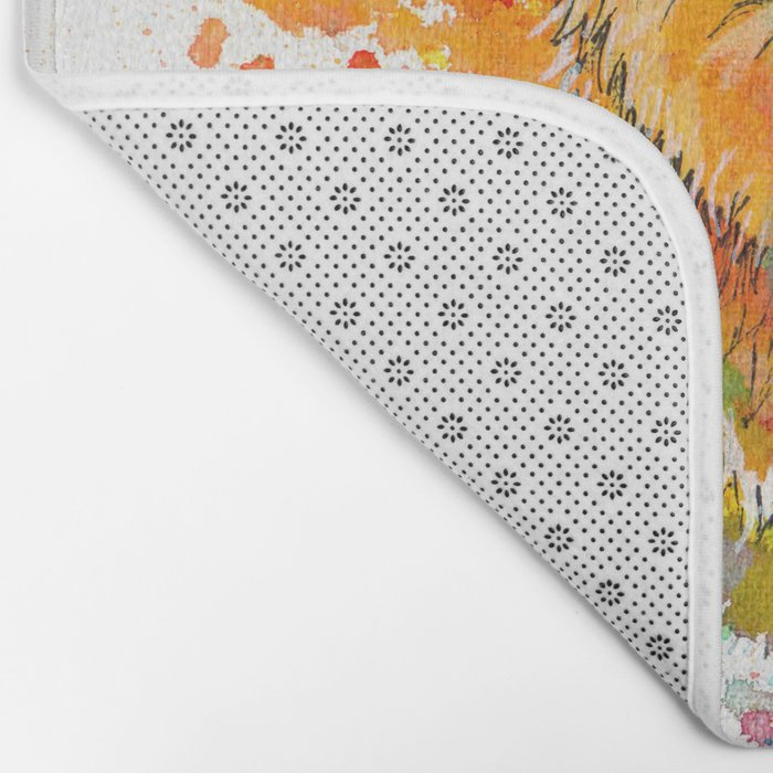 Ursa Major - bear painting Bath Mat