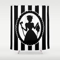 black widow Shower Curtains featuring Widow by babydark