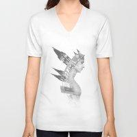 architect V-neck T-shirts featuring Architect by Sergio Varanitsa