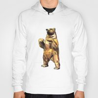 central park Hoodies featuring Central Park Bear by Piljam
