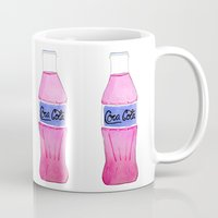 coke Mugs featuring Pink Coke by Shellsea Art