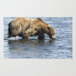 Brown Bear Going for a Dip Rug