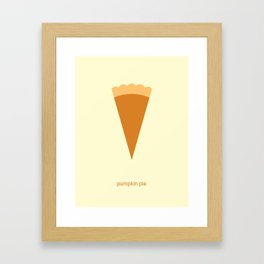 Pumpkin Pie Framed Art Print
