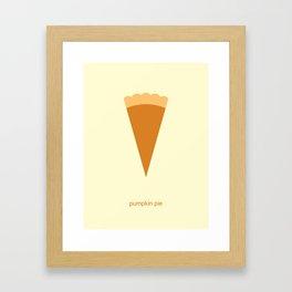 Pumpkin Pie Framed Art Print