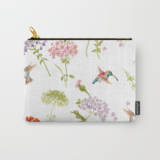 Hummingbird floral Carry-All Pouch
