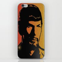 spock iPhone & iPod Skins featuring Spock by SVA🌺Silvia Van