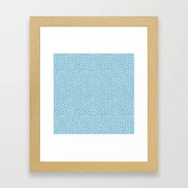 Hand Knit Sky Blue Framed Art Print