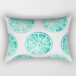 Turquoise Citrus Rectangular Pillow