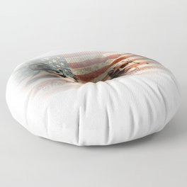 The Rise of a Nation Floor Pillow