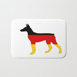 German Flag - Dobermann Pinscher Bath Mat