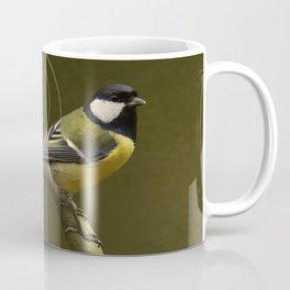 Great tit on swirled branch Coffee Mug