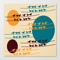 birdy Canvas Prints featuring birdy by BruxaMagica_susycosta