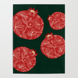 Pomegranate pattern Poster