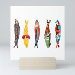 Sardinhas 5 Mini Art Print