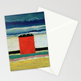 Kazimir Malevich - Red house Stationery Cards
