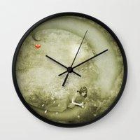 luna Wall Clocks featuring Luna by eMBie