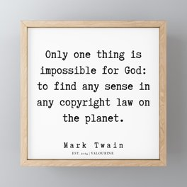95  | Mark Twain Quotes | 190730 Framed Mini Art Print