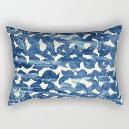 Indigo love Rectangular Pillow