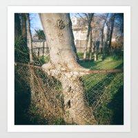 Tree Eating Fence Art Print