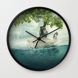 The macaque island Wall Clock