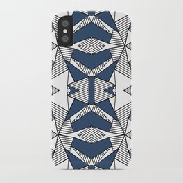 Triangle Tribal #2 Navy iPhone Case