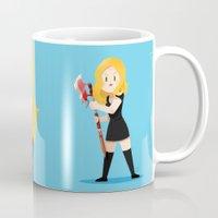 buffy Mugs featuring Little Warriors: Buffy by Inu Store