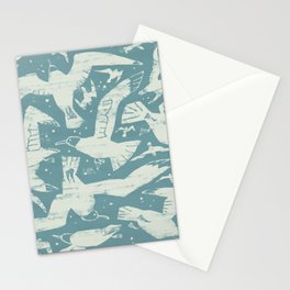 Migrating Gulls Stationery Cards