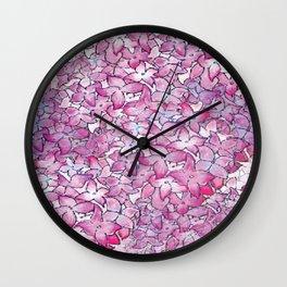 Hydrangea Pattern Wall Clock