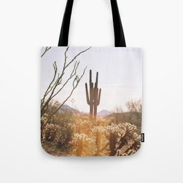 cactus in the desert Tote Bag