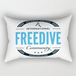 Freedive Community Rectangular Pillow