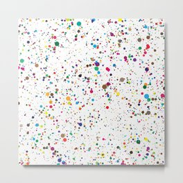 Confetti Paint Splatter Metal Print