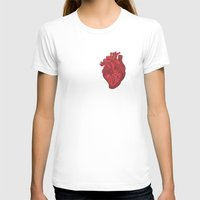 anatomical heart T-shirts featuring Anatomical Love by Orange Blood Gallery