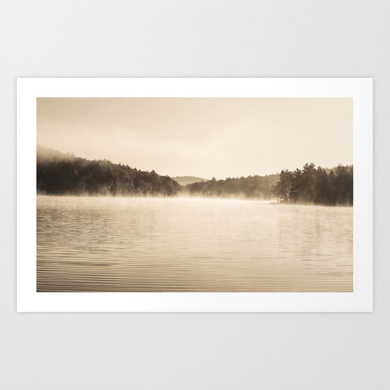 A New Day  - Foggy Morning at Laurel  Art Print